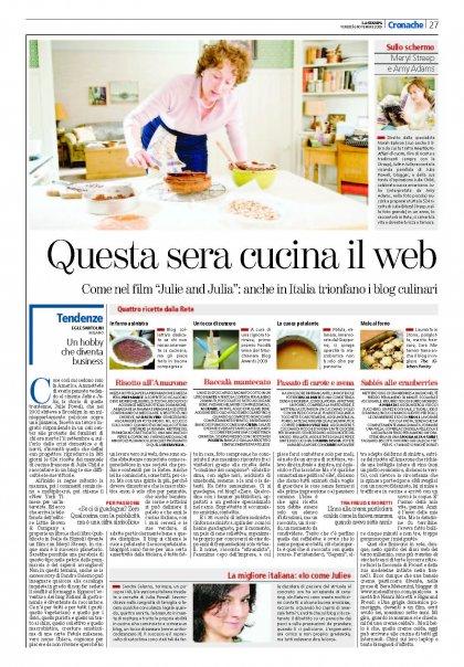 La Stampa, 6 Novembre 2009